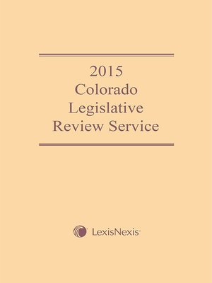cover image of 2015 Colorado Legislative Review Service