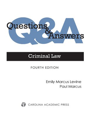 Cover of Questions & Answers: Criminal Law