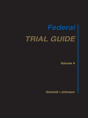 cover image of Federal Trial Guide