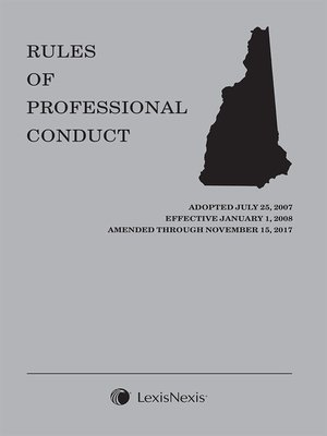cover image of New Hampshire Rules of Professional Conduct