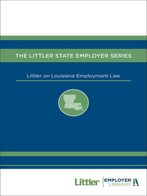 cover image of Littler on Louisiana Employment Law