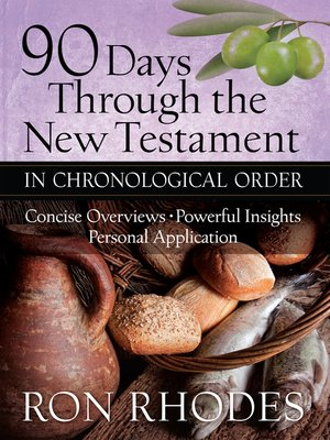 cover image of 90 Days Through the New Testament in Chronological Order