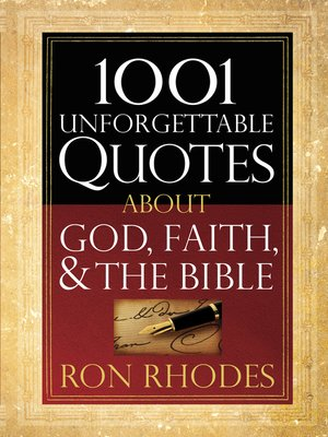 cover image of 1001 Unforgettable Quotes About God, Faith, and the Bible