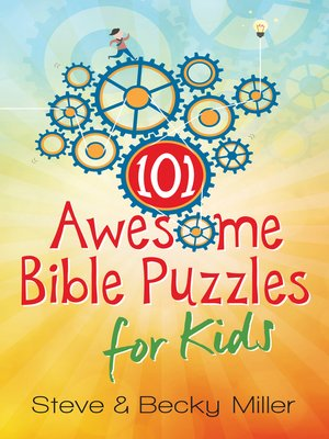 cover image of 101 Awesome Bible Puzzles for Kids