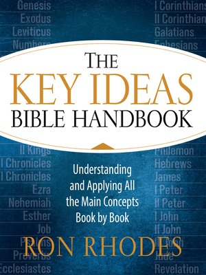 cover image of The Key Ideas Bible Handbook