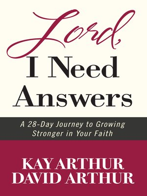 cover image of Lord, I Need Answers
