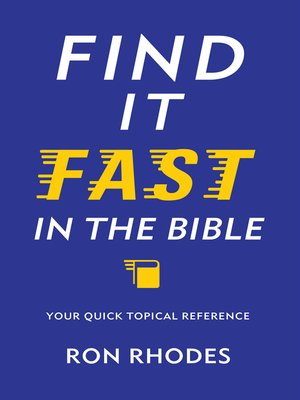 cover image of Find It Fast in the Bible