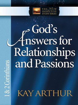 cover image of God's Answers for Relationships and Passions