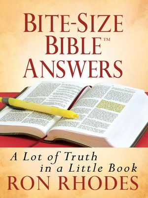 cover image of Bite-Size Bible™ Answers