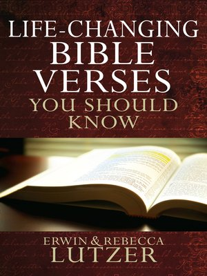 cover image of Life-Changing Bible Verses You Should Know