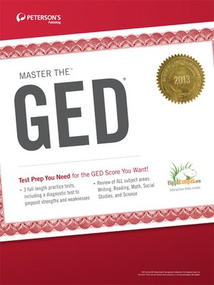 cover image of Master the GED 2013