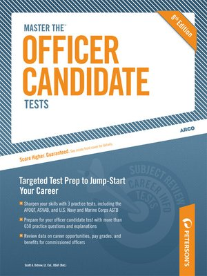 cover image of Master the Officer Candidate Tests