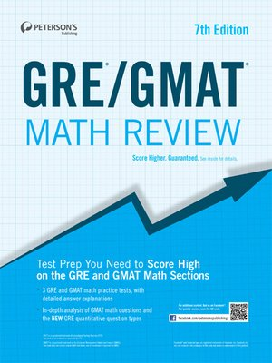 cover image of GRE/GMAT Math Review