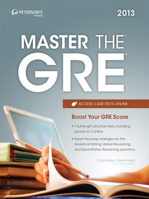 cover image of Master the GRE 2013