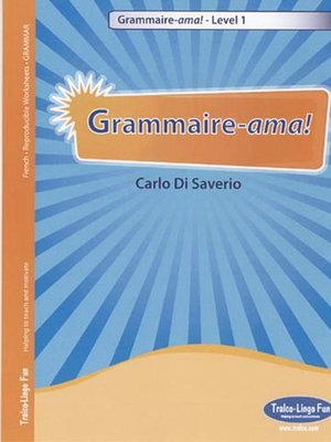 cover image of Grammaire-ama! Level 1