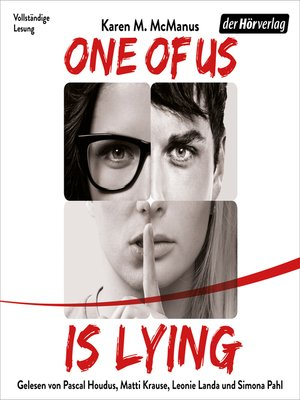 cover image of One of Us Is Lying