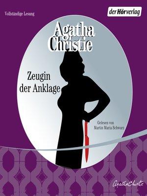 cover image of Zeugin der Anklage