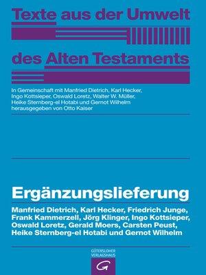 cover image of Ergänzungslieferung