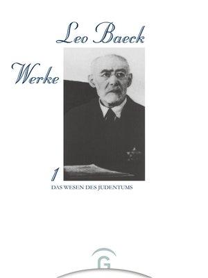 cover image of Das Wesen des Judentums