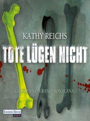 cover image of Tote lügen nicht