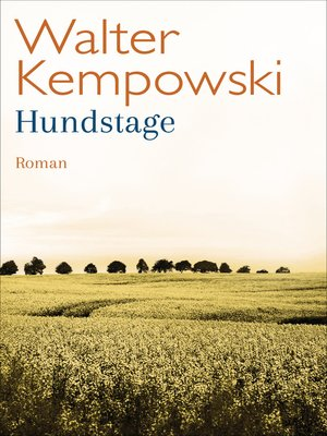 cover image of Hundstage