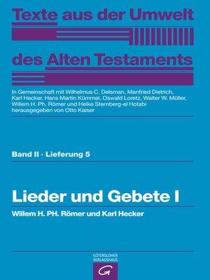 cover image of Lieder und Gebete I