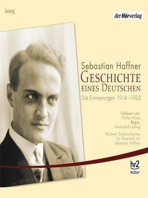cover image of Geschichte eines Deutschen