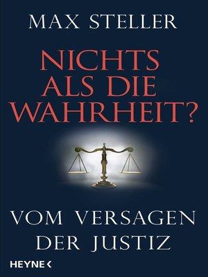 cover image of Nichts als die Wahrheit?