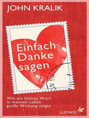 cover image of Einfach Danke sagen