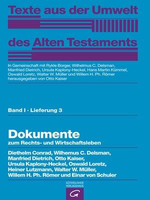 cover image of Dokumente zum Rechts- und Wirtschaftsleben