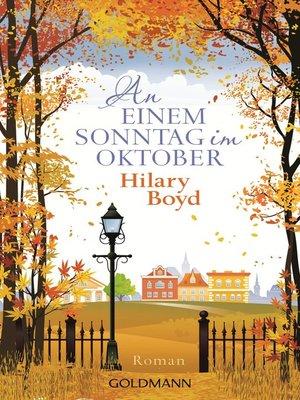 cover image of An einem Sonntag im Oktober