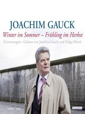 cover image of Winter im Sommer--Frühling im Herbst
