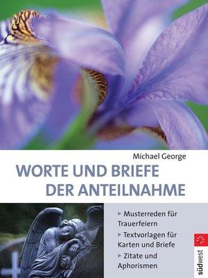 cover image of Worte und Briefe der Anteilnahme