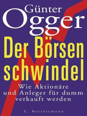 cover image of Der Börsenschwindel