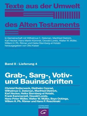 cover image of Grab-,  Sarg-, Votiv- und Bauinschriften