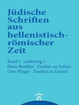 cover image of Zusätze zu Esther. Zusätze zu Daniel