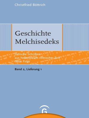 cover image of Geschichte Melchisedeks