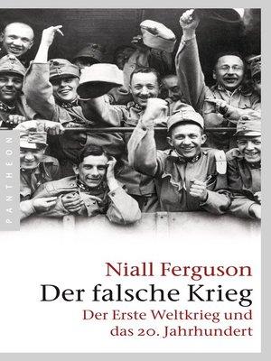 cover image of Der falsche Krieg