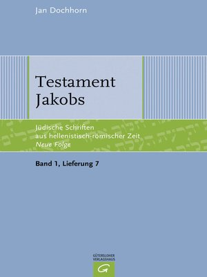 cover image of Testament Jakobs