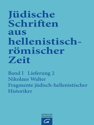 cover image of Fragmente jüdisch-hellenistischer Historiker
