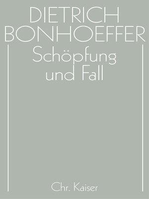 cover image of Schöpfung und Fall