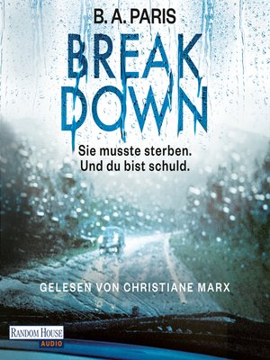 cover image of Breakdown--Sie musste sterben. Und du bist schuld