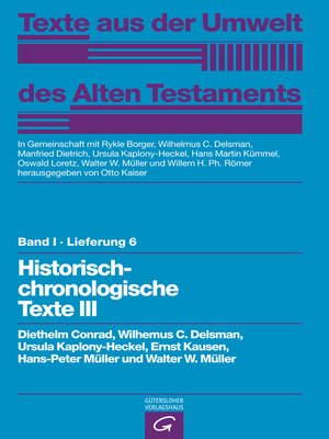cover image of Historisch-chronologische Texte III