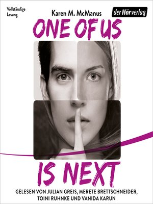cover image of One of Us Is Next