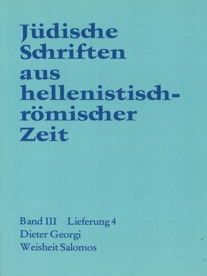 cover image of Weisheit  Salomos