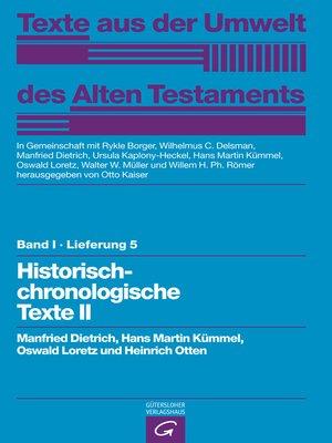 cover image of Historisch-chronologische Texte II