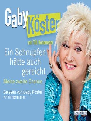 cover image of Ein Schnupfen hätte auch gereicht