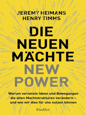 cover image of Die neuen Mächte – New Power