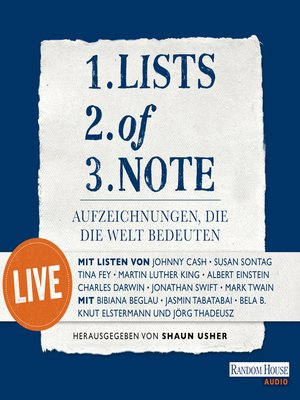 cover image of Lists of Note – Live