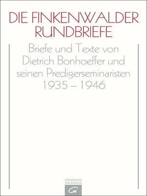cover image of Die Finkenwalder Rundbriefe